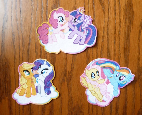 iron on or sew on transfer applique 39 s my little pony by. Black Bedroom Furniture Sets. Home Design Ideas