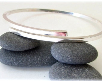 Sterling Silver Bracelet. Silver bangle bracelet. Maine jewelry. Modern Silver Jewelry. Hammered silver. Bangle bracelet