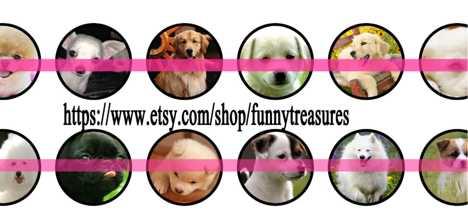 Pdf Printable Sheet Of Cute PUPPIES And Dogs ANIMALS Pets - Custom vinyl decal application instructions pdfapplication etsy