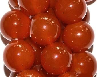 "Carnelian Beads - Round 10 mm Gemstone Beads - Full Strand 15 1/2"", 38 beads, AA-Quality"