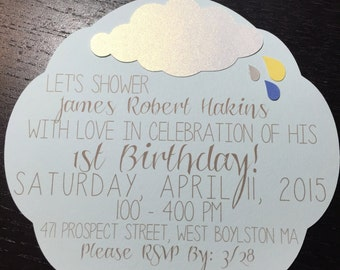 April Showers Birthday Invitation