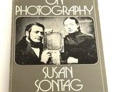 "Vintage Photography Book, ""On Photography"" by Susan Sontage, Photography Education,"