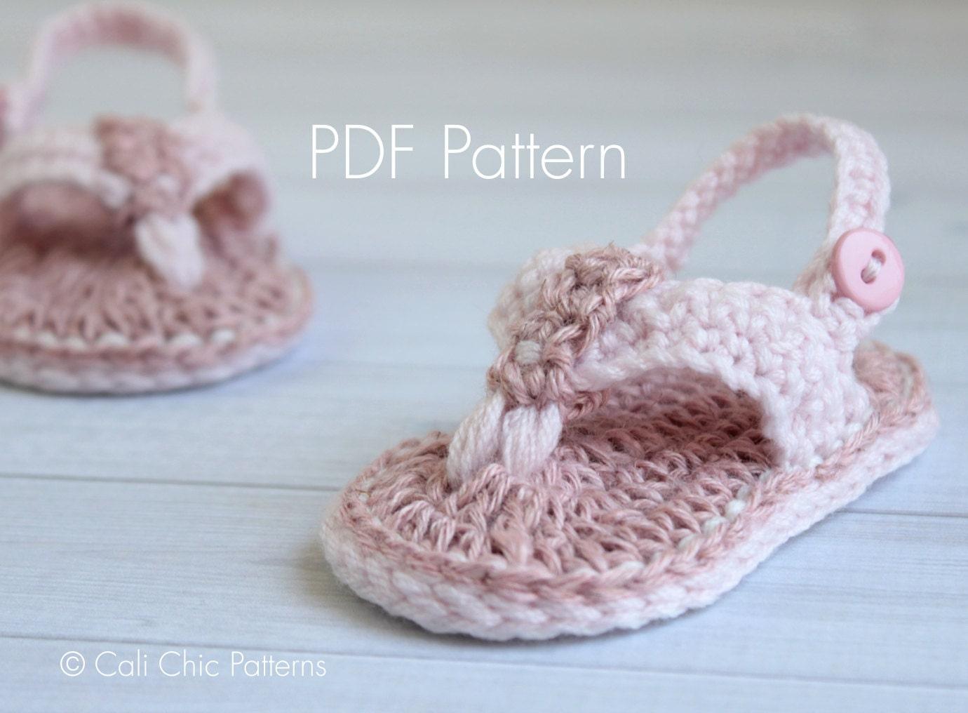 Crochet PATTERN 312 Malibu Baby flip flops pattern Crochet