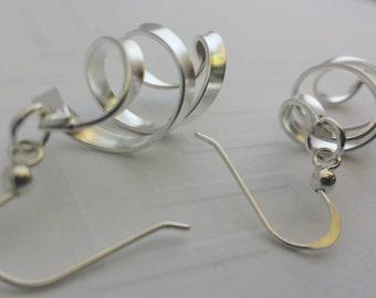 Whirlwind, Sterling Silver Earrings,