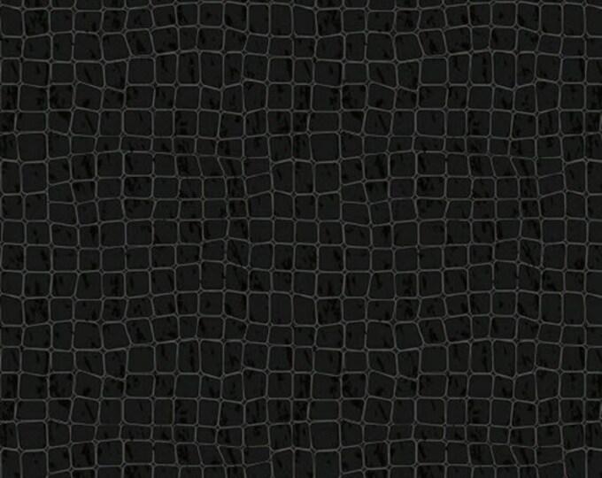 One Yard I Dream of Paris - Alligator Print in Black - Cotton Quilt Fabric - Pela Studios Wild Apple for Windham Fabrics - 36381-2 (W2667)