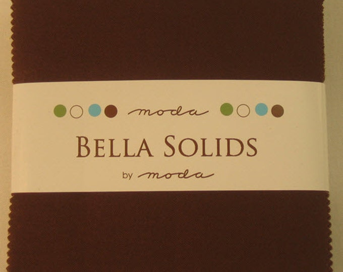 "BELLA SOLIDS Charm Pack in Brown - (42) 5"" x 5"" Squares - Cotton Quilt Fabric Precuts - Moda Fabrics - 9900PP-71 (W2743)"