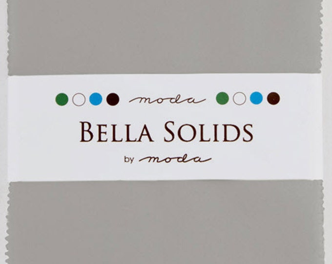 "BELLA SOLIDS Charm Pack in Silver - (42) 5"" x 5"" Squares - Cotton Quilt Fabric Precuts - Moda Fabrics - 9900PP-183 (W2748)"