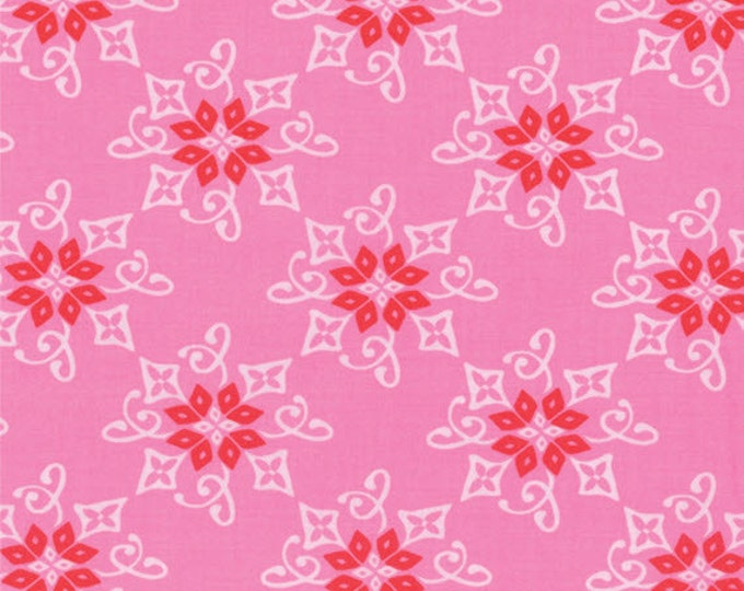 Half Yard Daydreams - Reflection in Rose Pink - Cotton Quilt Fabric - designed by Kate Spain for Moda Fabrics - 27174-13 (W2791)