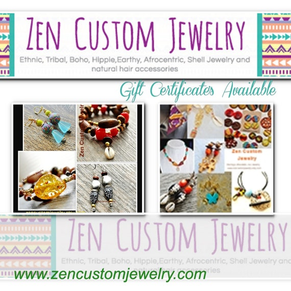 Zen Custom Jewelry Gift CertificateGift Card By