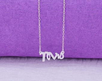 Sterling Silver Special Font 3 Initials Necklace (PSPCFONT-SS)