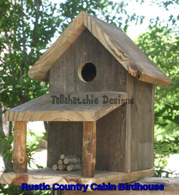 Rustic bird house design home design and style for Bird house styles