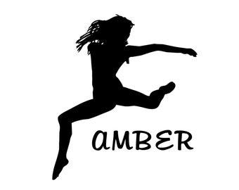 Dancer Decal, Dance Sticker for dancer, dance mom, and family.  Dancer Sticker.