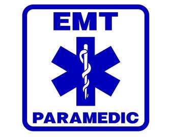 Paramedic Decal , EMT Paramedic Sticker , Emergency Medical Technician Decal , First Responder Decal - EMT Sticker