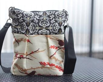 Aviary Messanger Crossbody Bag, Everyday Bag, Travel Purse, Sling Bag, Shoulder Purse, Cross Body Sling Bag,Travel Handbag
