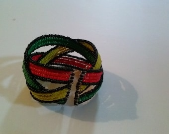 Beaded Bracelet adjustable to fit any size