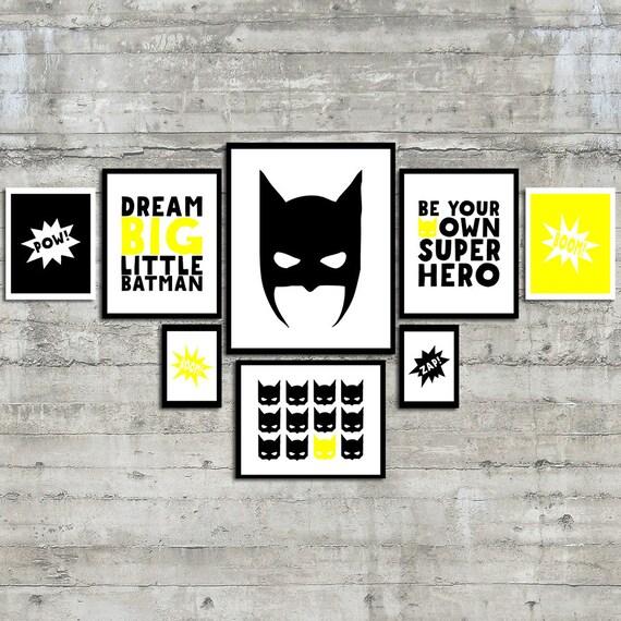 Superhero Wall Art Dream Big Little Batman Be Your Own Super