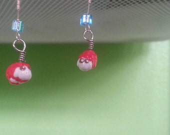 Dangle sheep earrings