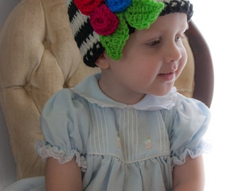 Rosettes and Stripes Hat