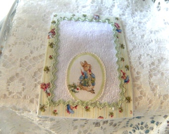 miniatures nursery  bath towel for dollhouse