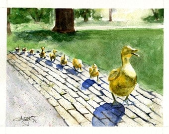 Make Way for Ducklings Painting