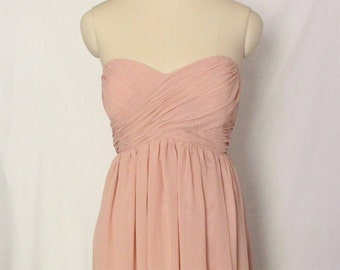 Short Sweetheart Bridesmaid Dress Chiffon Short Strapless Bridesmaid Dress-Custom Dress