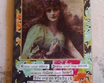 You are Beautiful, Write your Story, Live your big Dream Art Card