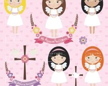 First communion clipart, Angel clipart.