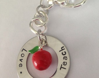 Love Inspire Teach keyring. Thank you apple for the Teacher