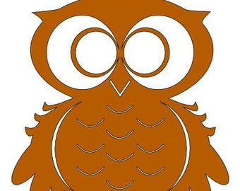 SVG PDF Owl  Silhouette DIGITAL download