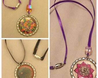 Mandala Bottle Cap Necklaces
