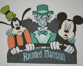 Disney - The Haunted Mansion - Die Cut Paper Piecing for Scrapbook Pages - Doombuggy - Hitchhiking Ghosts