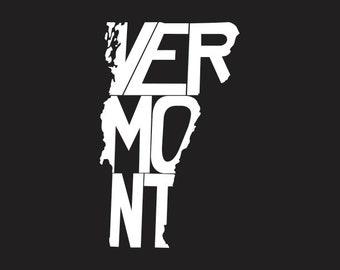 Custom Vinyl Vermont State Decal