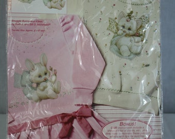 Fashion Art Snuggle Bunny and Kitten Transfers 80280