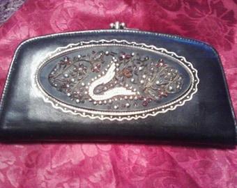 Beautiful Cowhide Beaded Wallet
