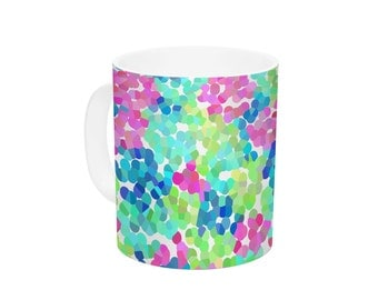 "Ceramic Coffee Mug - Beth Engel ""Flower Garden"" - Great Gift!"