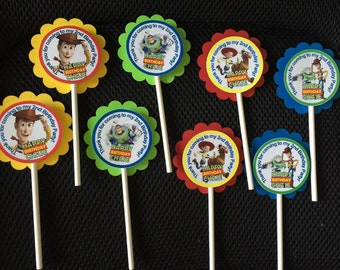 TOY STORY cup cake toppers 12