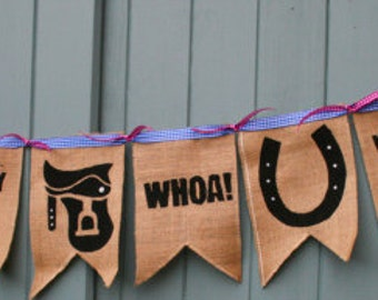 Handmade Horse/Pony/Equestrian Novelty Fun Bunting - Made To Order