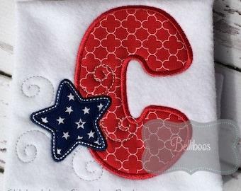 Star Alphabet Applique Design - Star Alphabet Embroidery Design - Patriotic Alphabet Applique Design - Applique Design - Embroidery Design