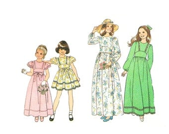 Simplicity 7947 Child's Spring Dress Sewing Pattern Multiple Sizes Available