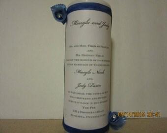 Wedding Candle, Wedding Centerpiece, Wedding Invitation Candle, Wedding Unity Candle