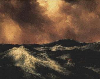 The Angry Sea PDF Cross Stitch Pattern