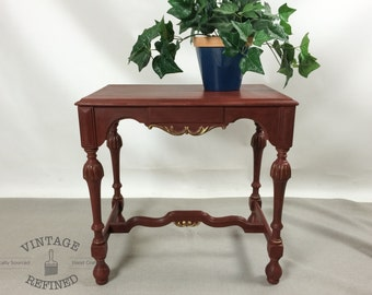 AVAILABLE: Deep Red Side Table
