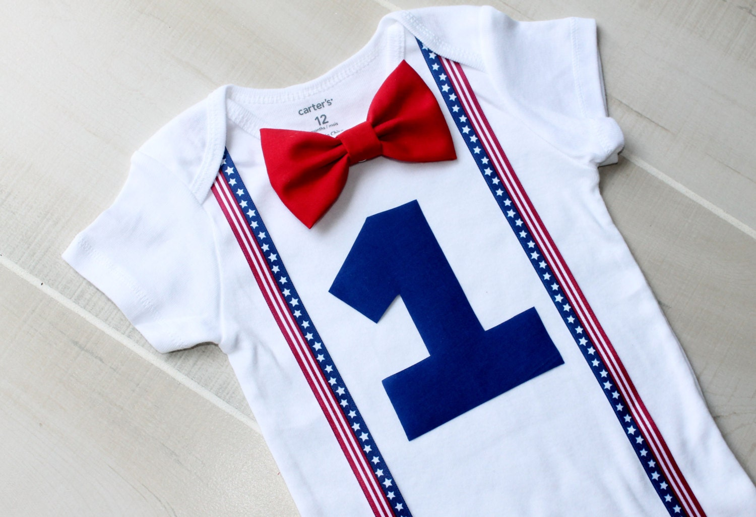 Fourth July Baby Boy Birthday Outfit Crestlinecreatives