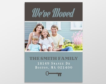 Custom Digital Moving Announcement, We've Moved, Move Announcement, 5x7 PRINTABLE - MA1