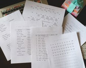 Summer Planning Road Trip Adventures Bucket List PDF 6 Page Printable Set
