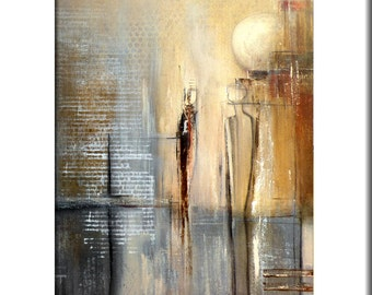 Event Horizon- Original Large Abstract Contemporary Modern Home Decor Print from Original Painting by Elwira Pioro - NuElle