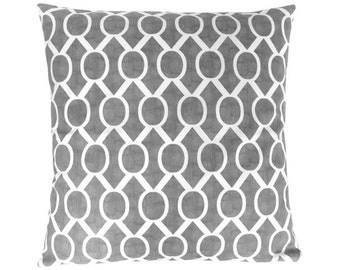 Cushion cover SYDNEY graphically patterned batik Print gray 40 x 40 cm