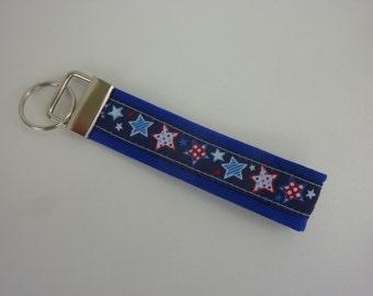 "Key ring ""Stars"" in blue/white/red"