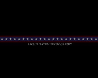 "CLEARANCE Custom Premade Photography Logo and Watermark ""USA Banner"" - Fully Custom Font and Color"
