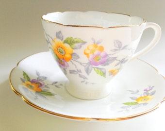 Genial Collingwoods Tea Cup and Saucer, Tea Set, Bone China Tea Cups, Vintage Teacups, Teacup and Saucer, Mid Century Tea Cups and Saucers